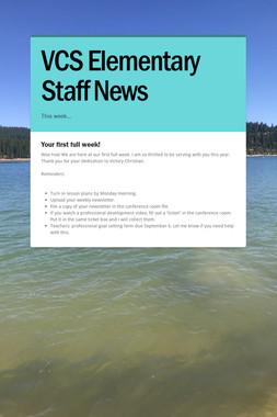 VCS Elementary Staff News