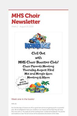 MHS Choir Newsletter