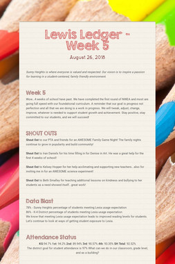 Lewis Ledger - Week 5