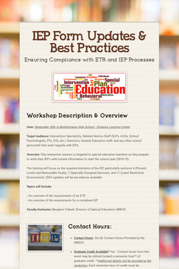 IEP Form Updates & Best Practices