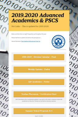 Advanced Academics & PSCS