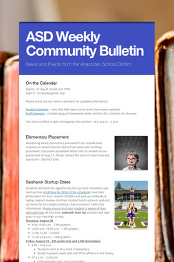 ASD Weekly Community Bulletin