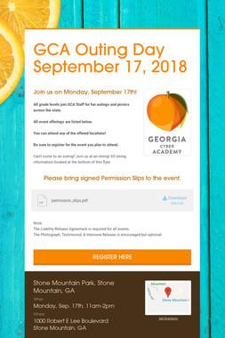GCA Outing Day September 17, 2018