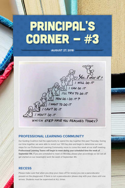 Principal's Corner - #3