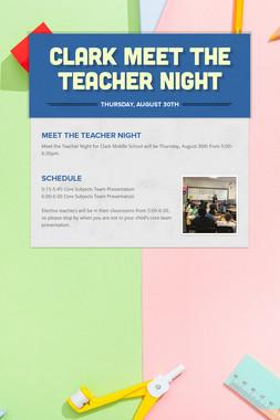 Clark Meet The Teacher Night