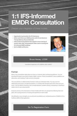 1:1 IFS-Informed EMDR Consultation