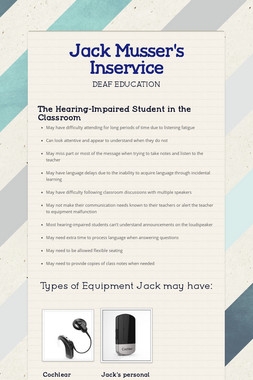 Jack Musser's Inservice