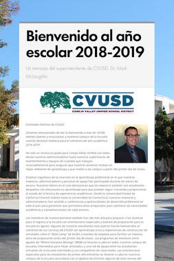 Bienvenido al año escolar 2018-2019