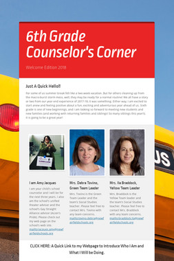 6th Grade Counselor's Corner