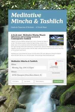 Meditative Mincha & Tashlich
