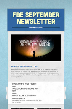FBE September Newsletter