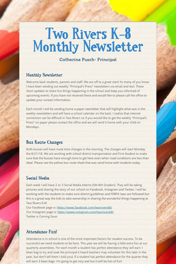 Two Rivers K-8 Monthly Newsletter