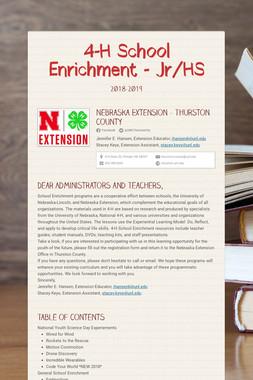 4-H School Enrichment - Jr/HS