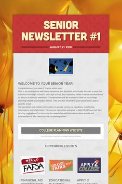 Senior Newsletter #1