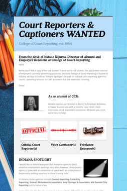 Court Reporters & Captioners WANTED