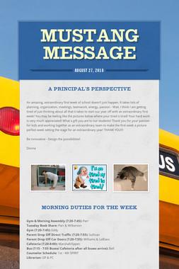 Mustang Message