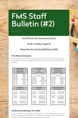 FMS Staff Bulletin (#2)