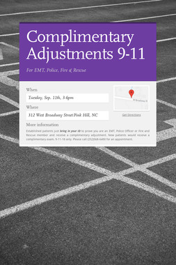Complimentary Adjustments 9-11