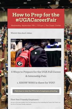 How to Prep for the #UGACareerFair