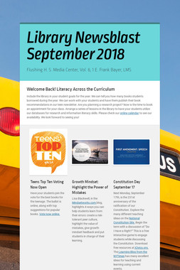 Library Newsblast September 2018