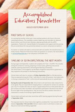Accomplished Educators Newsletter