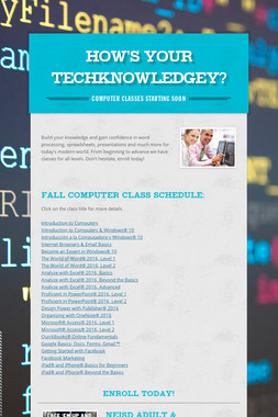 How's your TECHknowledgeY?