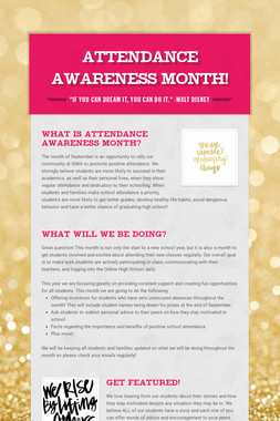 Attendance Awareness Month!