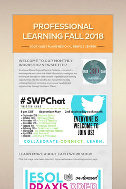 Professional Learning Fall 2018