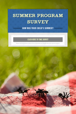 Summer Program Survey
