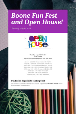 Boone Fun Fest and Open House!