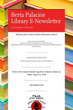 Berta Palacios Library E-Newsletter