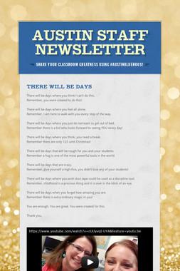 Austin Staff Newsletter
