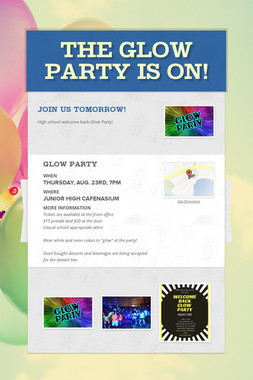 The Glow Party is ON!