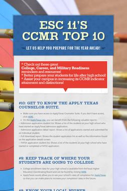 ESC 11'S CCMR TOP 10