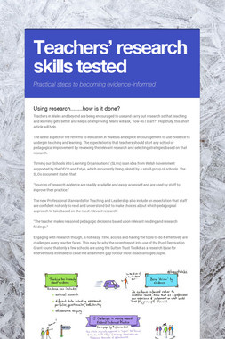 Teachers' research skills tested