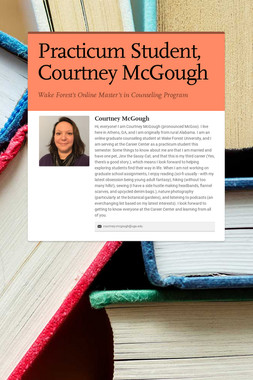 Practicum Student, Courtney McGough