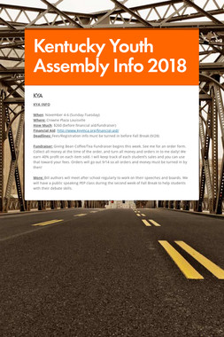 Kentucky Youth Assembly Info 2018