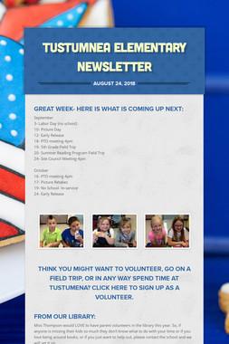Tustumnea Elementary Newsletter