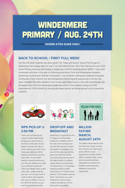 Windermere Primary / Aug. 24th
