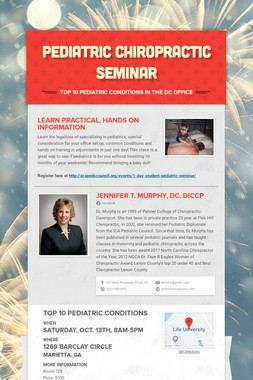 Pediatric Chiropractic Seminar