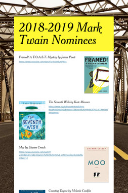 2018-2019 Mark Twain Nominees