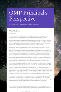 OMP Principal's Perspective