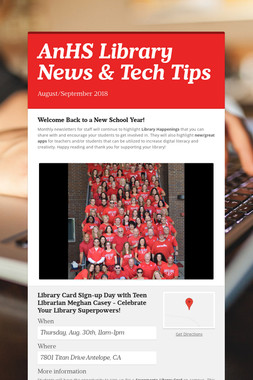 AnHS Library News & Tech Tips