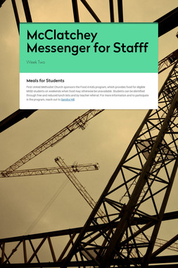 McClatchey Messenger for Stafff