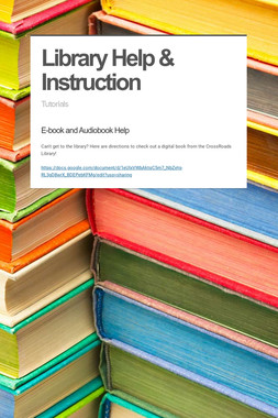 Library Help & Instruction