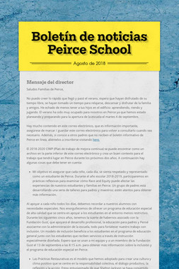 Boletín de noticias Peirce School