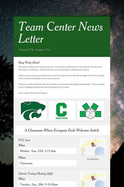 Team Center News Letter