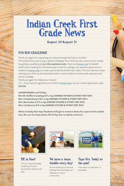 Indian Creek First Grade News