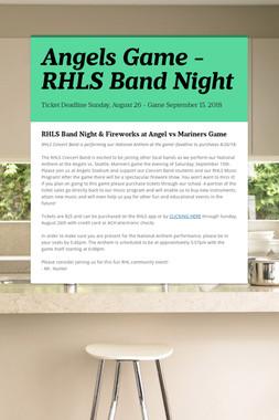 Angels Game - RHLS Band Night