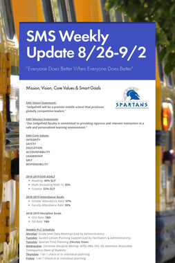 SMS Weekly Update 8/26-9/2